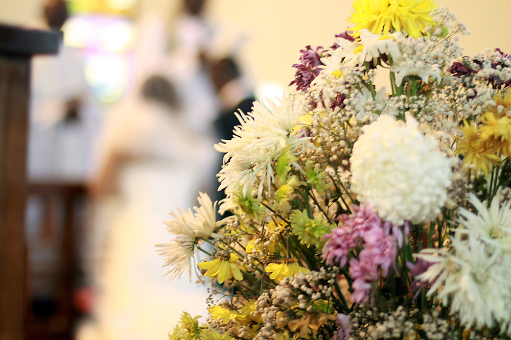 photoblog image Flowers for the couple